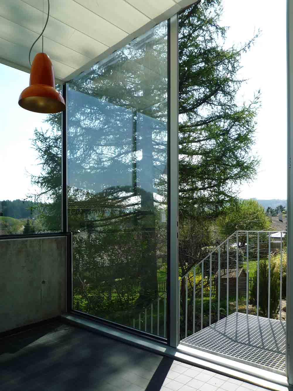 Filigrane Balkon Verglasung