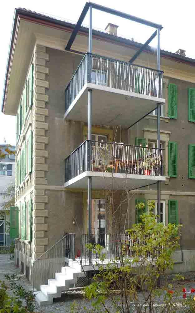 renovation balkonanbau hundertj hriges haus. Black Bedroom Furniture Sets. Home Design Ideas